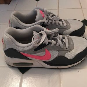 Gently worn Nike Women's air maxes pink and grey